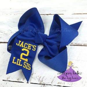 Personalized Football Fan Bow