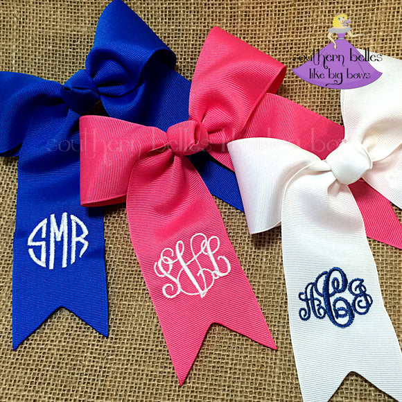 Monogrammed Ponytail Bows