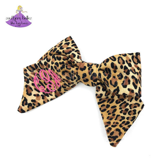 Leopard Hair Bows for Toddlers Personalized