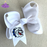 White Vancleave hair bow