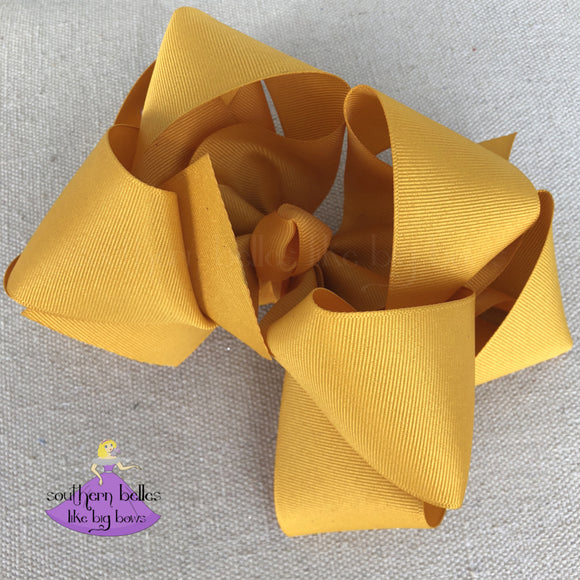 Big Mustard Layered Bow