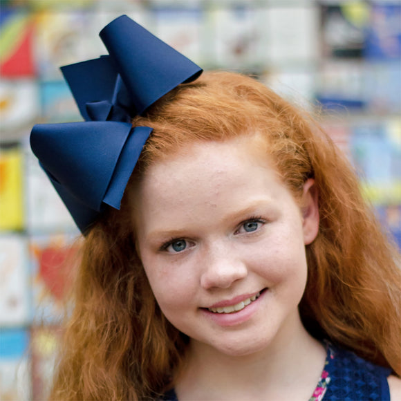 Big oversized navy jumbo boutique bow for back to school