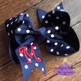 Big Navy Twisted Boutique Bow