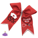 Big Red Graduation Bow for Nursing Major