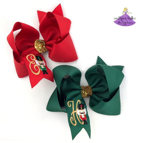 Personalized hair bow gift for girls for Nutcracker ballet