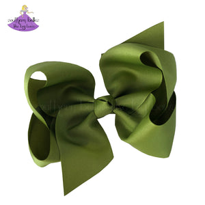 Large Fall Solids Hair Bow (Multiple Size & Color Options)