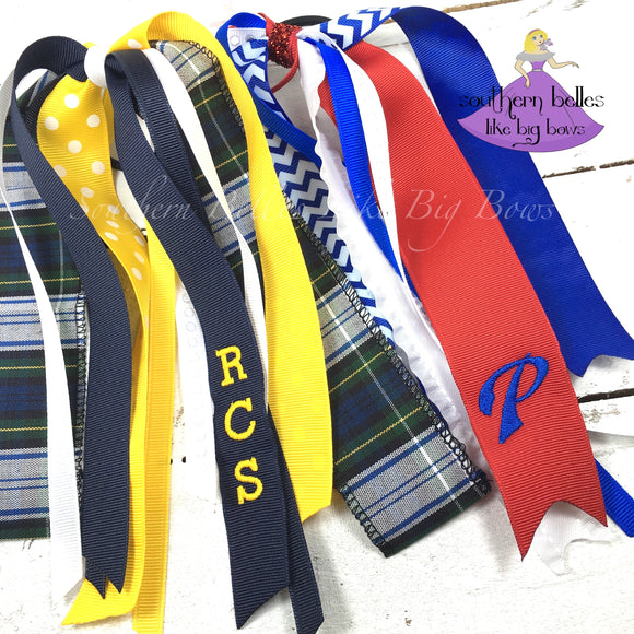 School Spirit Ponytail Streamers