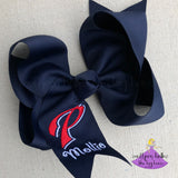 Personalized Navy Pascagoula Bow