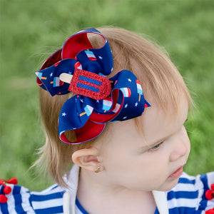 Red, White and Blue Popsicle Hair Bow for 4th of July and any summer celebration
