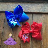 Red Paw Print Hair Bow