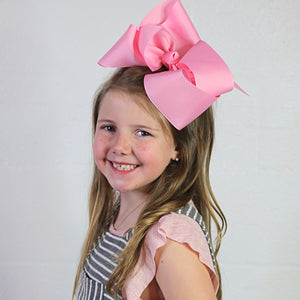 Big Pink Hair Bow in Jumbo Size