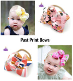 Boutique Bow Baby Headband Subscription Bow Box Gift Set Print Bows