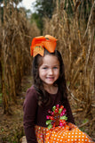 Personalized Pumpkin Bow for Fall