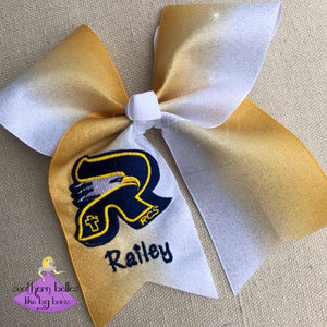 Personalized RCS Ombre Glitter Cheer Bow