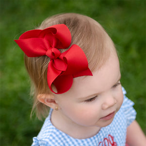 Red boutique bow for little girl