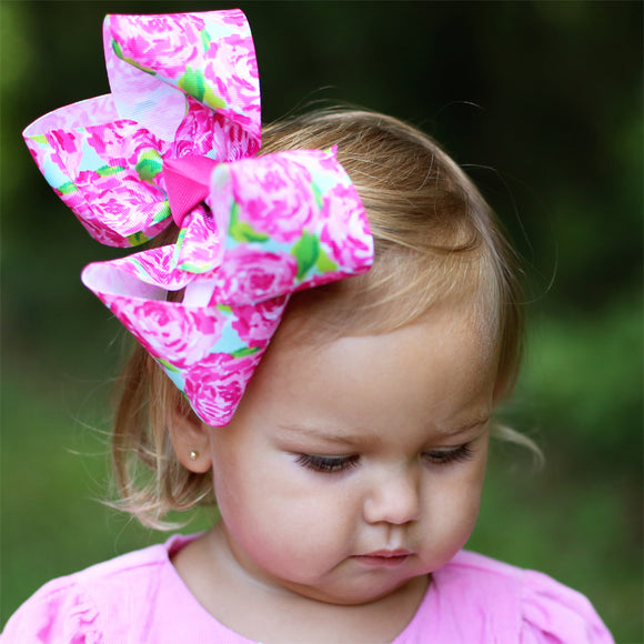 Big Rose Bloom Hair Bow