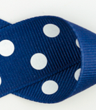 Royal Blue and White Polka Dots