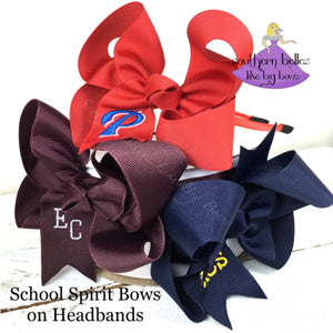 School Spirit Bow Headband
