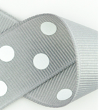 Grey and White Polka Dots