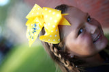 Yellow Polka Dot Bow with St. Martin Yellow Jacket