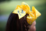 Personalized Yellow Jacket Bow