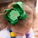 St. Patrick's Day Hair Bows for girls