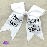 2020 Graduation Bow with Thank You Message for Mom & Dad