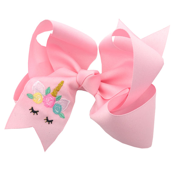 Unicorn Hair Bow for Toddlers and Older Girls