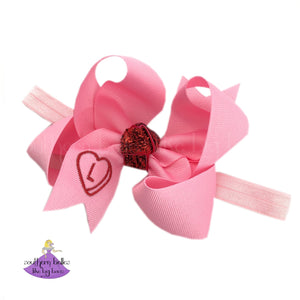 Personalized Valentine's Day Baby Headband Bow