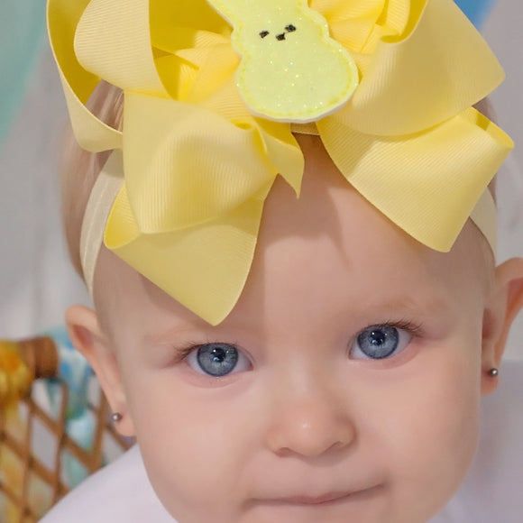 Easter Bunny Layered Bow - Medium