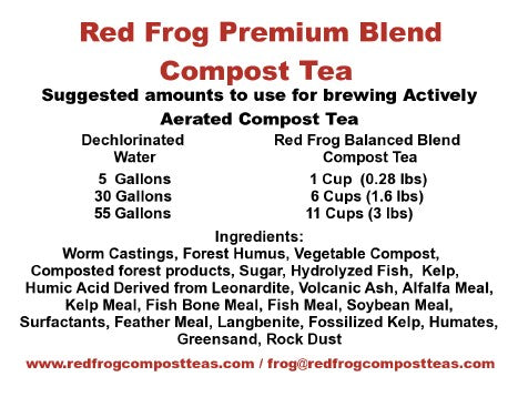 4 4 lb Bags of Red Frog Compost Teas Premium Blend Compost Teas