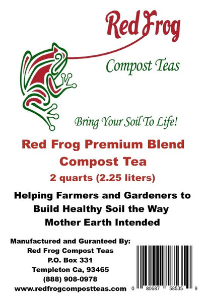 2 4 lb Bags of Red Frog Compost Teas Premium Blend Compost Teas