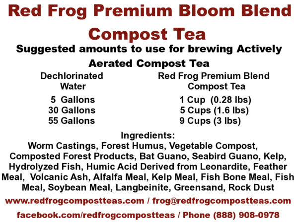 4 4 lb Bags of Red Frog Compost Teas Bloom Blend