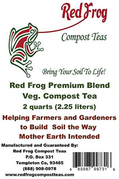 12 4 lb Bags of Red Frog Compost Teas Veg. Blend