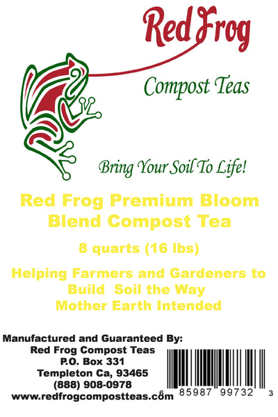 6 16 lb Bag of Red Frog Compost Teas Bloom Blend