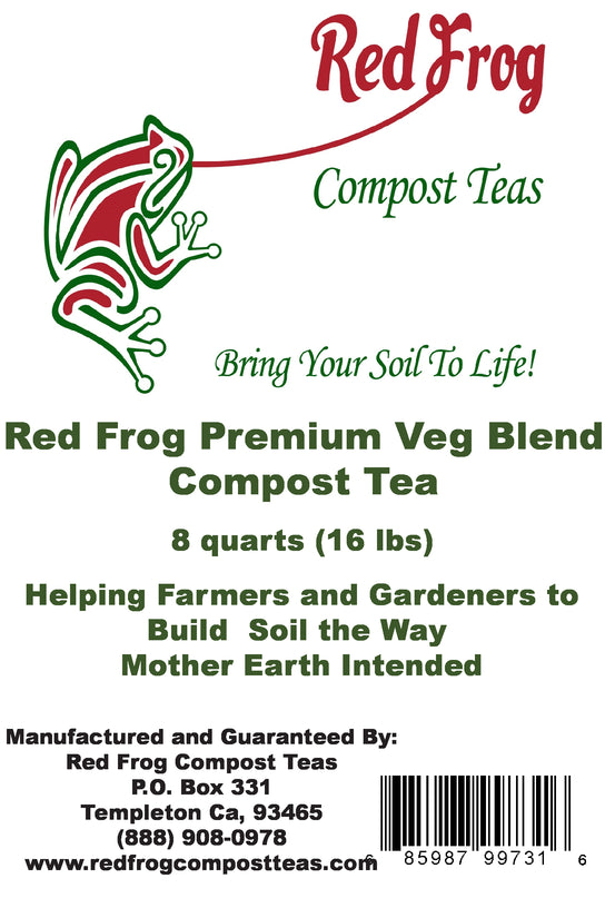 3 Bag  16 lbs of Red Frog Compost Teas Veg. Blend