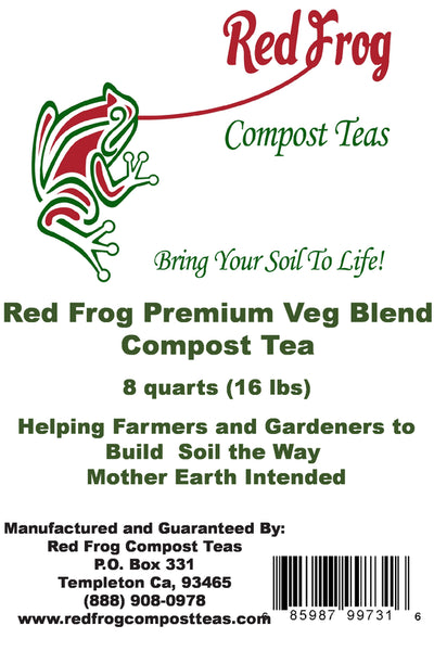6 Bag  16 lbs of Red Frog Compost Teas Veg. Blend