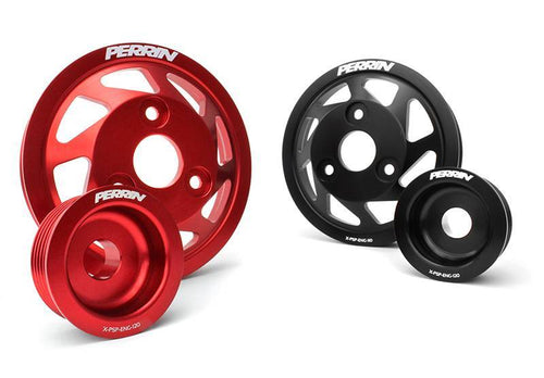 Perrin 13+ Subaru/Scion BRZ/FR-S Water Pump and Alternator Accessory Pulley Kit - Red