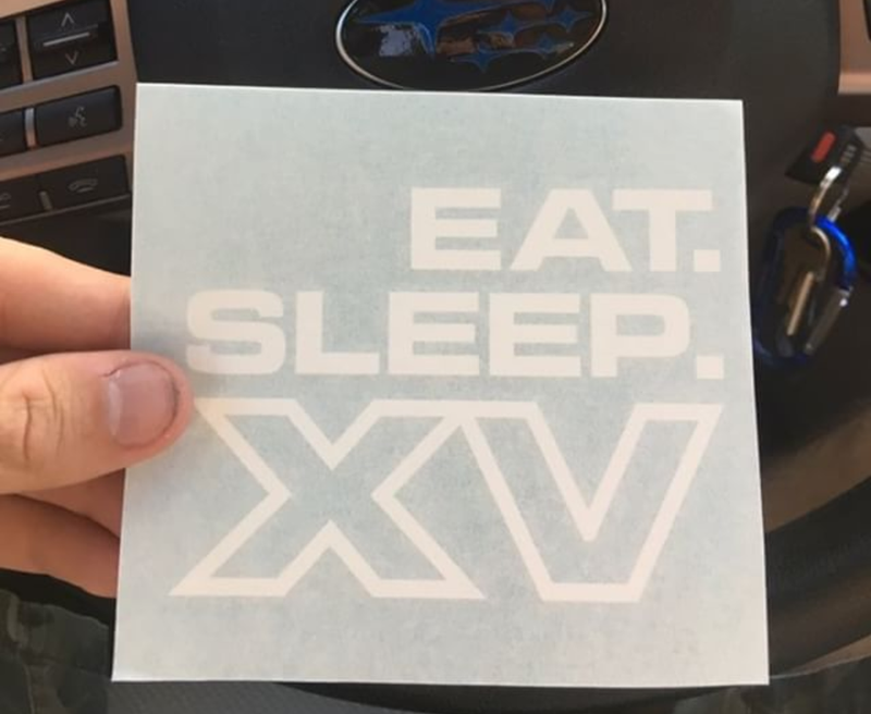 Eat. Sleep. XV. Decal
