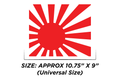 Sticker - Rising Sun Fuel Door Decal - Rumblebros
