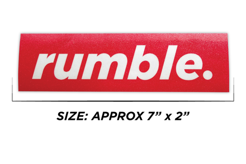 Sticker - Minimal Rumble Slap - Rumblebros