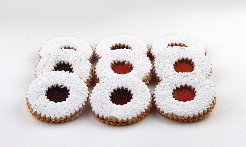 Large Linzer Cookies