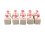 White Chocolate Petit Fours With Flowers - World of Chantilly