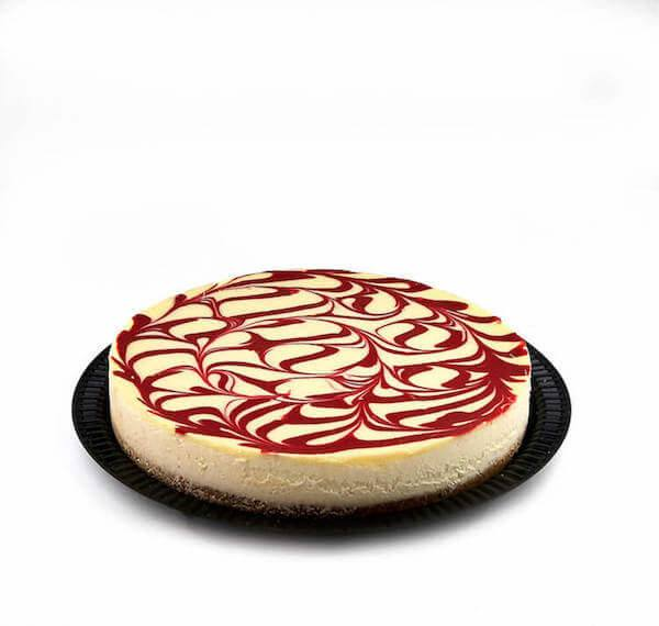 Kosher for Passover Cholov Yisroel Dairy Raspberry Swirl Cheesecake - World of Chantilly