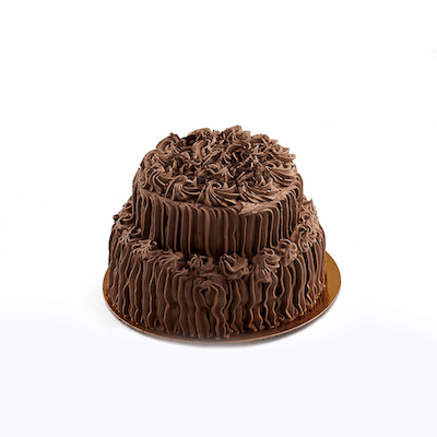 Two Tier Chocolate Mousse Cake - World of Chantilly