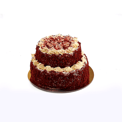 Two Tier Red Velvet Cake - World of Chantilly