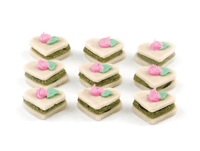 Three Layer Marzipan Hearts - World of Chantilly