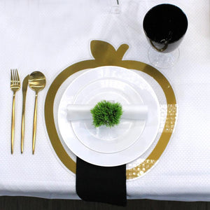 Lucite Apple Table Chargers