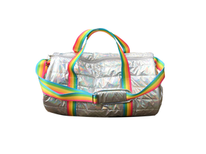 Puffer Metallic Duffel Bag Camp Package