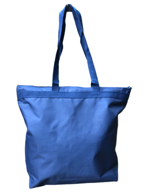 Canvas Zipper Top Tote Bag